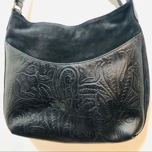 SUEDE LEATHER EMBOSSED PURSE